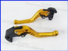Honda CBR1000RR (04-07), CNC levers short gold/black adjusters, F33/H33
